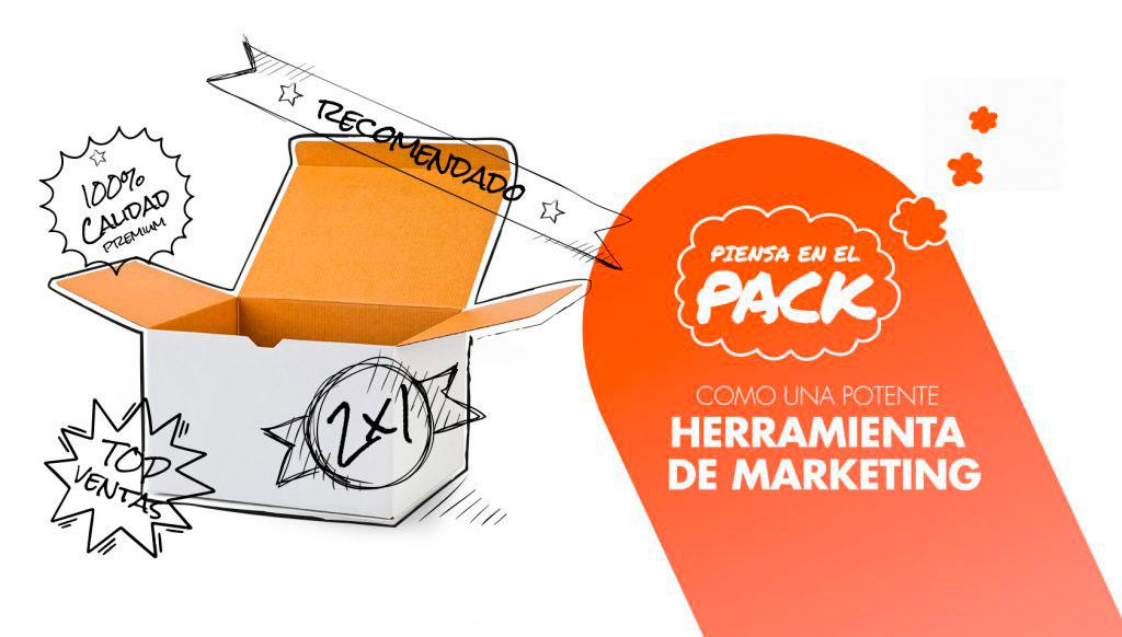 Piensa en el pack como una potente herramienta de marketing