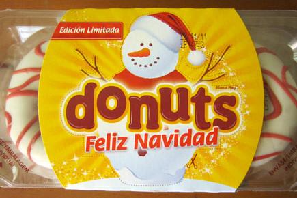 Packaging de navidad para donuts